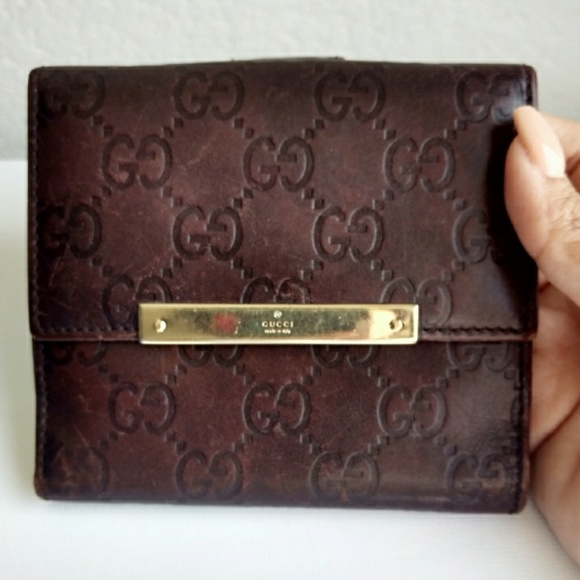 f5d2b28cb72a Gucci Handbags - Gucci Guccissima Leather French Flap Wallet